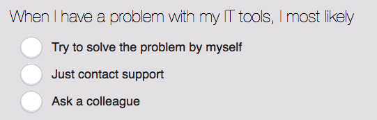IT Support question