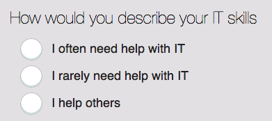 IT skills question